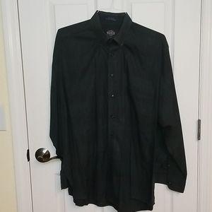 Kenneth Gordon long sleeve plaid button down shirt